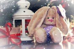 Año Nuevo del juguete suave de la linterna Fotografía de archivo