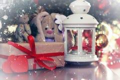 Año Nuevo del juguete suave de la linterna Imagenes de archivo
