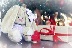 Año Nuevo del juguete suave de la linterna Fotografía de archivo libre de regalías