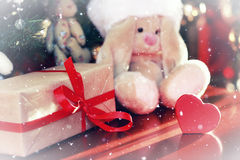 Año Nuevo del juguete suave de la linterna Imágenes de archivo libres de regalías