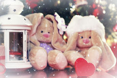 Año Nuevo del juguete suave de la linterna Imagen de archivo