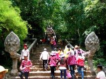 Año Nuevo del Khmer, el Banan Imagenes de archivo
