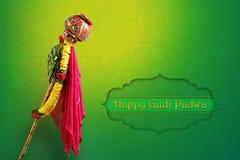 Año Nuevo del Marathi de Gudi Padwa Imagen de archivo libre de regalías