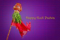 Año Nuevo del Marathi de Gudi Padwa Fotos de archivo