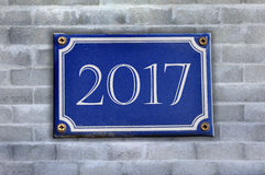 Año Nuevo del monumento 2017 Imágenes de archivo libres de regalías
