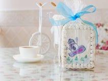 Año Nuevo del muñeco de nieve del pan de jengibre Imagen de archivo libre de regalías