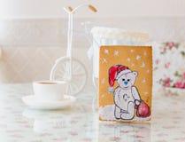 Año Nuevo del oso del pan de jengibre Foto de archivo