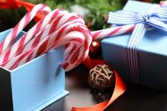 Año Nuevo del palillo del bastón de caramelo Fotos de archivo