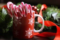 Año Nuevo del palillo del bastón de caramelo Foto de archivo