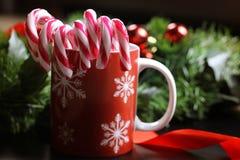 Año Nuevo del palillo del bastón de caramelo Imágenes de archivo libres de regalías