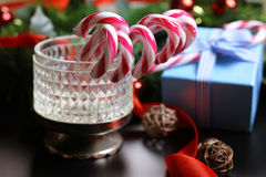 Año Nuevo del palillo del bastón de caramelo Fotos de archivo libres de regalías