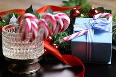 Año Nuevo del palillo del bastón de caramelo Imagenes de archivo