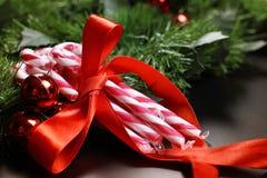Año Nuevo del palillo del bastón de caramelo Fotografía de archivo libre de regalías