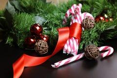 Año Nuevo del palillo del bastón de caramelo Imagen de archivo