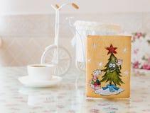 Año Nuevo del pino del pan de jengibre foto de archivo libre de regalías