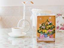 Año Nuevo del pino del pan de jengibre Imagen de archivo