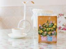 Año Nuevo del pino del pan de jengibre foto de archivo