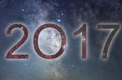 2017 Año Nuevo del resplandor 2017 coloridos Cielo nocturno Fotografía de archivo libre de regalías