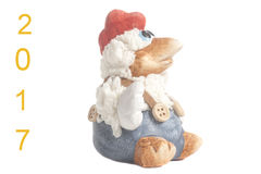 Año Nuevo del símbolo del recuerdo del juguete del gallo Fotos de archivo