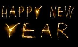 Año Nuevo del Sparkler Fotos de archivo