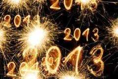 Año Nuevo del Sparkler Fotografía de archivo libre de regalías