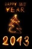 Año Nuevo del Sparkler Imágenes de archivo libres de regalías
