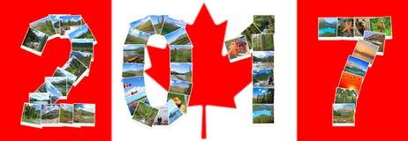 Año Nuevo del viaje 2017 de Canadá Fotografía de archivo libre de regalías