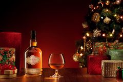 Año Nuevo del whisky Fotografía de archivo libre de regalías