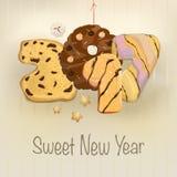 Año Nuevo dulce 2017 Imagen de archivo