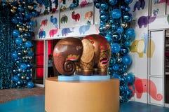 Año Nuevo, elefante del día de fiesta Imágenes de archivo libres de regalías