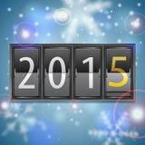 Año Nuevo 2015 en calendario mecánico Imágenes de archivo libres de regalías
