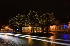 Año Nuevo en ciudad Foto de archivo