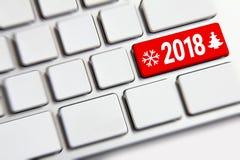 Año Nuevo 2018 en el teclado Imagen de archivo
