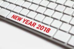 Año Nuevo 2018 en el teclado Imágenes de archivo libres de regalías