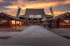 Año Nuevo en el templo de Sensoji Foto de archivo libre de regalías