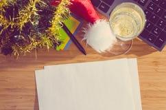 Año Nuevo en el trabajo Imágenes de archivo libres de regalías