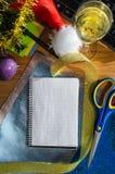 Año Nuevo en el trabajo Foto de archivo libre de regalías