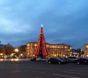 Año Nuevo en Ereván, Armenia Imagen de archivo libre de regalías