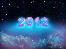 Año Nuevo en espacio Fotos de archivo libres de regalías