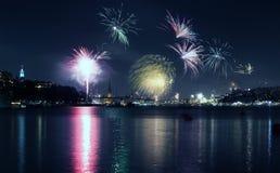 Año Nuevo en Estocolmo Imagen de archivo libre de regalías