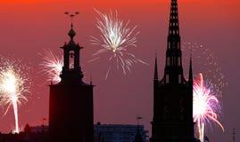 Año Nuevo en Estocolmo Imagen de archivo