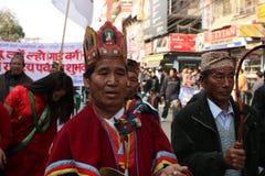 Año Nuevo en Katmandu, Nepal Fotos de archivo