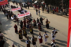 Año Nuevo en Katmandu, Nepal Imagen de archivo