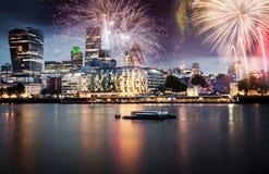 Año Nuevo en la ciudad Fotografía de archivo