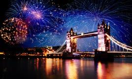 Año Nuevo en la ciudad Foto de archivo libre de regalías