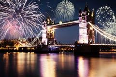 Año Nuevo en la ciudad Imagen de archivo libre de regalías