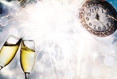 Año Nuevo en la medianoche Imagen de archivo libre de regalías