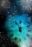 Año Nuevo en la medianoche Imagenes de archivo