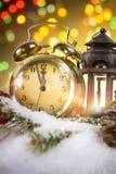 Año Nuevo en la medianoche Foto de archivo libre de regalías