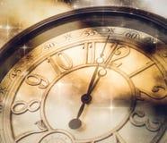 Año Nuevo en la medianoche Imágenes de archivo libres de regalías